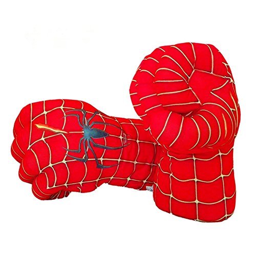 Atickbase 2pc Spiderman Gloves Boxing Gloves Creative Plush (Spiderman 2 Adult Costumes Web Shooters)