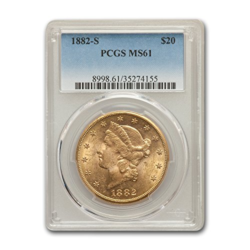 1882 S $20 Liberty Gold Double Eagle MS-61 PCGS G$20 MS-61 PCGS