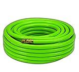 Dynamic Power PVC/Rubber Hybrid Air Hose 3/8-Inch by 50-Feet, 1/4-Inch MNPT Brass Ends (Green)