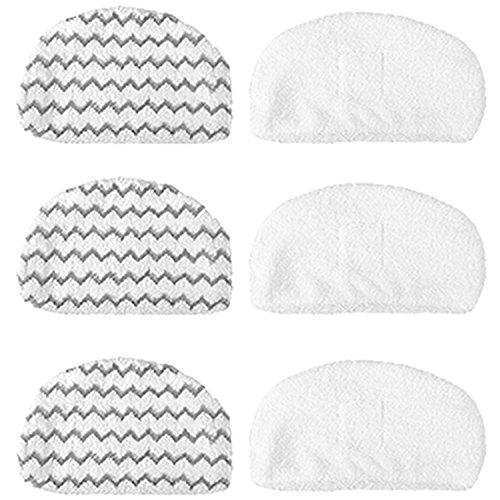 Amyehouse 6 Pcs Washable Mopping & Scrubbing Pads Replacement for Bissell Powerfresh 1940 1440 1544 Series Steam Mop, Model 1544A, 2075A, 1440, 1940W, 19404, 1806, 1940A, 5938, 19408, 1940Q, 1940W by Amyehouse
