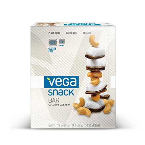 Vega Snack Bar, Coconut Cashew, 12 Count