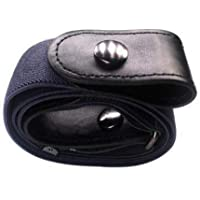 Apostasi Buckle-Free Adjustable Stretch Belt, Breathable PU Leather Stretchy, Comfortable Invisible Belt No Bulge No…