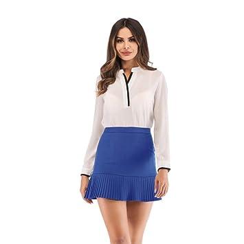 HEHEAB Falda,Verano Azul Micro Mini Faldas Mujeres Volantes ...
