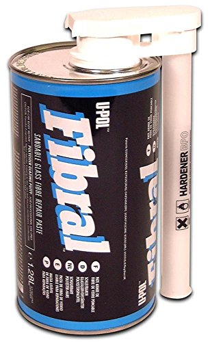 U-Pol Products 0717 FIBRAL Sandable Glass Repair Fiber Paste - 1.28 Liter by U-Pol (Image #1)