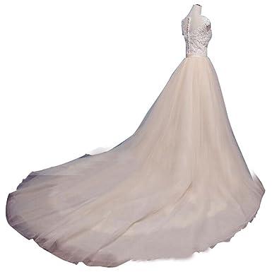 ee3ec03832 BetaaBetaa Champagne Detachable Long Train Tutu Tulle Wedding Overskirt  Bridal Train XS