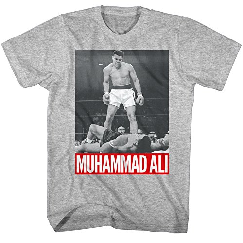 American Classics Men's Muhammad Ali I Am The Greatest T-Shirt, Grey Heather, (Boxing Classic T-shirt)