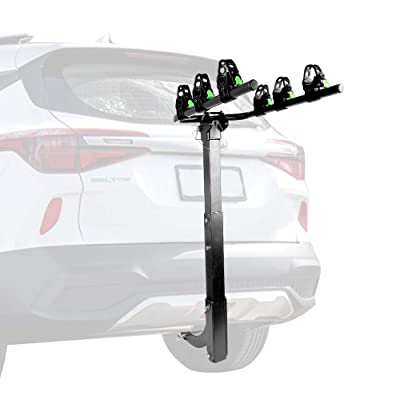 ZEMANOR 3 Hitch Mount Bike Rack Bicycle Carrier for Cars Trucks SUV's and Minivans with Hitch Pin Lock Super Strong All - Steel Bike Frame: Automotive