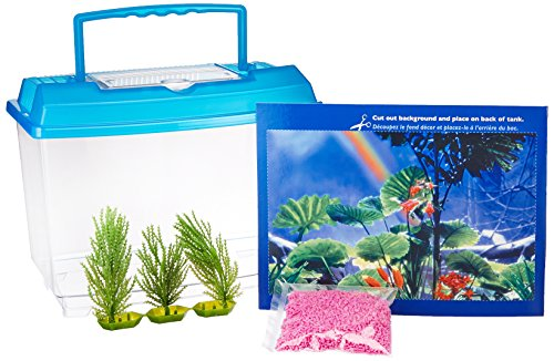 Penn Plax NWK25 Goldfish Betta Fish Bowl With Decorations Plastic 1.25 Gallon Bowl With Lid by Penn Plax