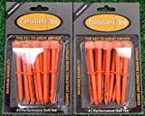2 Consistent Tee 3 1/4'' Golf Tee Pack - Orange