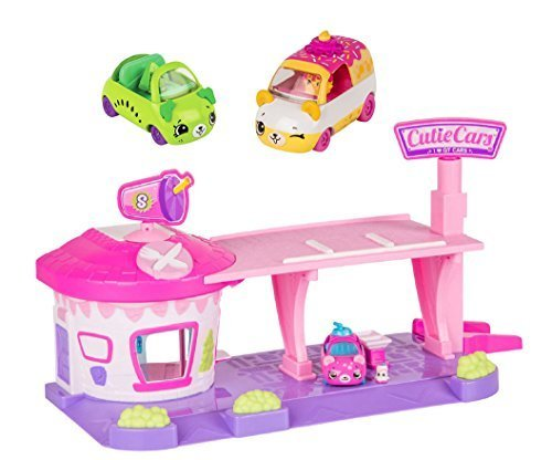Shopkins New Exclusive Bundle - Series 1 Cutie Cars Drive Thru Diner Playset - With Two Extra Cars And Mini (Diner Old Cars)
