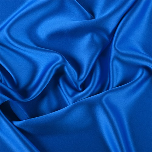 Sapphire Silk Crepe Back Satin, Fabric by The Yard ()