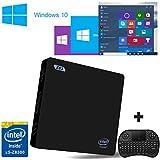 [Free keyboard + Mouse] J-DEAL® Z83 Windows 10 Mini PC 4K Intel Atom Processor 64Bit HD 2GB + 32GB + 128G Extendable WiFi 2.4G/5.8G Ethernet 1000Mbps LAN Bluetooth BT 4.0 USB 3.0 Stream Media Player