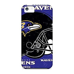 (JKC3864ktGl)durable Protection Case Cover For Iphone 5c(baltimore Ravens)