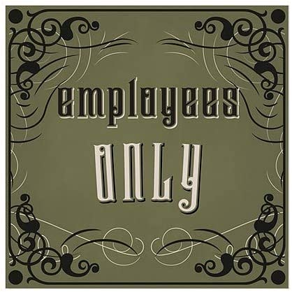 CGSignLab 12x12 Employees Only Victorian Gothic Clear Window Cling