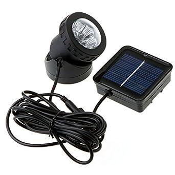 Alimenté Spot Lampe Amphibie Extérieur Igeek® Solaire Panneau Yard L54R3Aj
