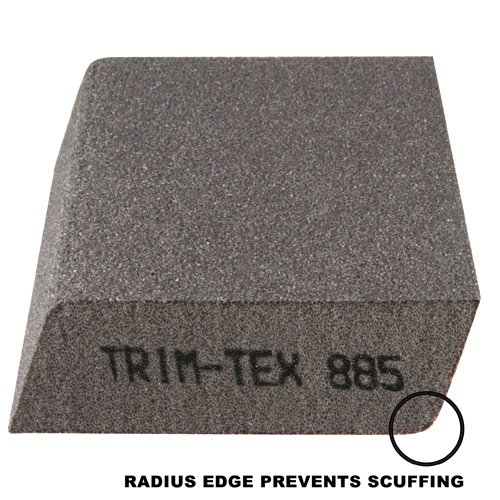 Dual Angle Sanding Block with Anti-Scuff Edge - Medium/Fine Grit (Box of 100)