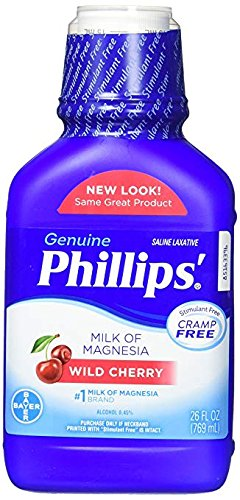 Phillips Wild Cherry Milk of Magnesia Liquid (Pack of 2) KfF#JDE