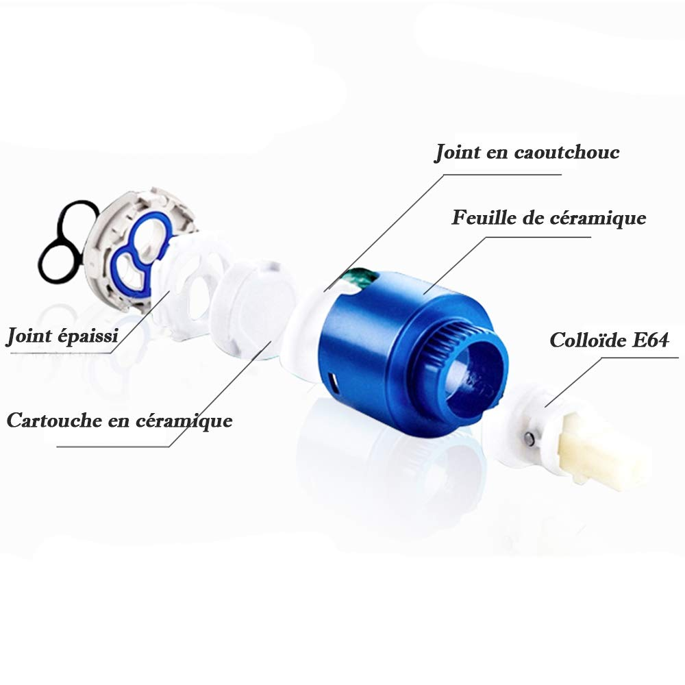 Ideko/® Robinet lavabo Cascade Mitigeur lavabo Robinet Salle de Bain Cascade /& Flexible Style Japonais