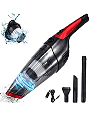 Fityou Handheld Vacuum Cordless, Upgraded 5800PA Super Suction Power Car Vacuum for Wet & Dry Clean, Portable Vacuum Cleaner 2200mAh Lithium Battery, 12V Vac for Home and Car Cleaning (Red)