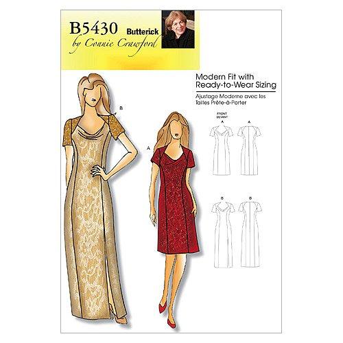 BUTTERICK PATTERNS B5430 Misses/Women's Dress, Size Miss (XSM-SML-MED-LRG)