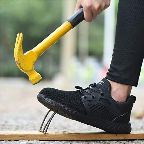 Chaussure de Securité Homme Femme Bottes Travail Chantiers Industrie Sneakers Protection Embout en Acier Basket de… 7