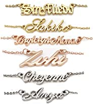 AOLO Customize Name Necklace Name Pendant Any Name Mother Gift