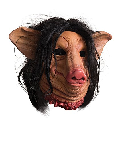 Rubie's Costume Co Saw Pig Face Overhead Latex Mask, Multi, One Size