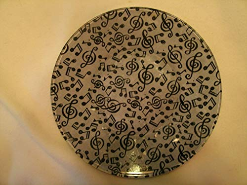 The Unique Gift Boutique-Musical Notes Decorative Decoupage Fabric Backed Plate