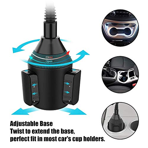 Portavasos cuello de cisne ajustable 360 °,soporte universal para ...