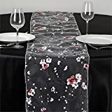kitchen 67 coupons BalsaCircle 14 x 108-Inch Cherry Blossom on White Sheer Organza Table Top Runner - Wedding Party Reception Linens Decorations
