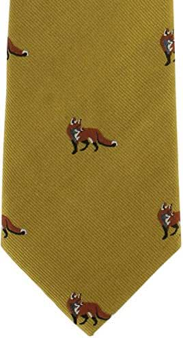 Gold Fox Silk Tie by Michelsons of London