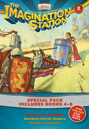 Imagination Station Books 3-Pack: Revenge of the Red Knight / Showdown with the Shepherd / Problems in Plymouth (AIO Imagination Station - Mall Stores Plymouth