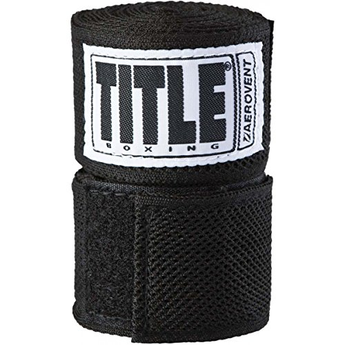 TITLE Aerovent Xtreme Hand Wrap (1 Pair), Black, 180
