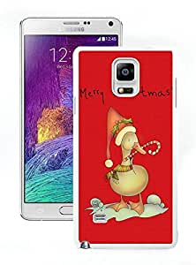 linJUN FENGRecommend Design Christmas duck White Samsung Galaxy Note 4 Case 1