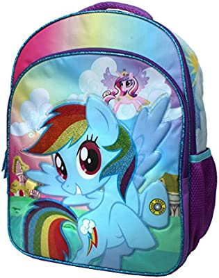 Amazon Com My Little Pony Rainbow Dash 16 Inch Backpack With Side Rh