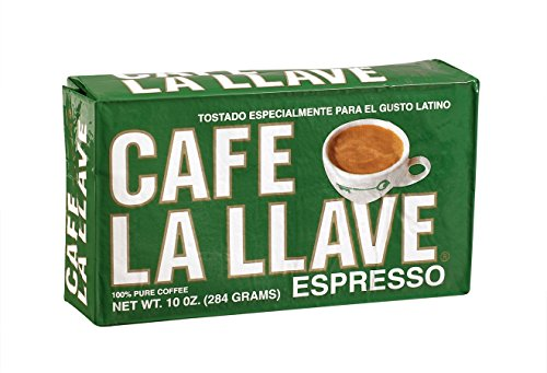Café La Llave Espresso, Exquisite Grind, 100% Pure Coffee, Dark Roast, Rich and Aromatic, 10-Ounce Vacuum Sealed Brick Give up the ghost