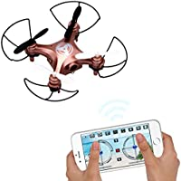 Dwi Dowellin Pocket Drone With Camera Mobile Phone Control for iOS/ Android APP Wifi RC Hover Rotate Altitude Hold Mini RTF Quadcopter X3 rose golden