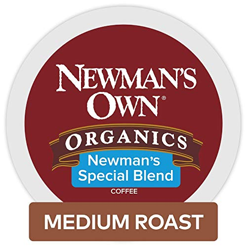 Newman's Own Organics Keurig Single-Serve K-Cup Pods Special Blend Medium Roast, Fair Trade and USDA Organic Certified Coffee, 96 Count from Newman's Own