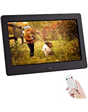 Upgraded Digital Photo Frame NAPATEK Digital Picture Frame High Resolution 16:9 IPS Screen Image Preview 180° View Angle Display Photo/Music/Video Player Calendar