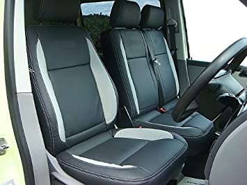 VW TRANSPORTER T5 VAN 1 FRONT SEATS CUSTOM MADE COVER