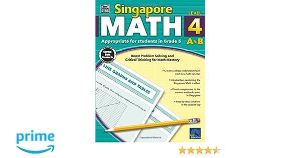 Singapore Math, Grade 5: Thinking Kids: 0044222240790: Amazon.com ...