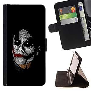 BullDog Case - FOR/Apple Iphone 6 / - / Joker /- Monedero de cuero de la PU Llevar cubierta de la caja con el ID Credit Card Slots Flip funda de cuer