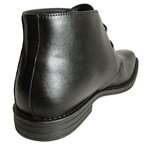 Steve Madden Mens P-lenox Effen Neus Enkellaars Schoen Zwart