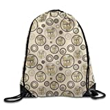 ZQWEOO Have Faith Three Crosses Heaven A Drawstring Backpack Design Casual Beautiful