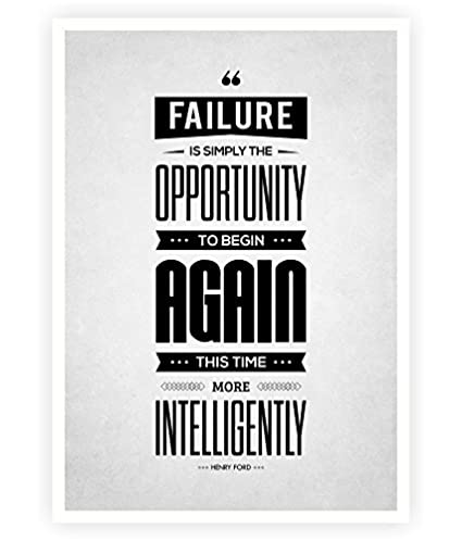 Amazon com : Failure Is Simply the Opportunity Henry Ford