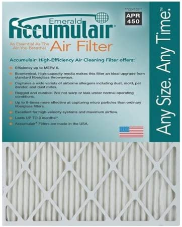 3 Pack MERV 11 Air Filter//Furnace Filter 18.5x20.5 Accumulair Platinum 19x21x1