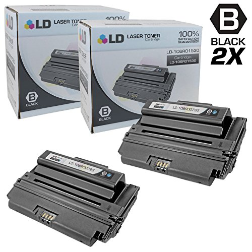 LD © Compatible Xerox 108R00795 / 108R795 2PK High Yield Black Laser Toner Cartridges for use in Xerox Phaser 3635 Printer Series