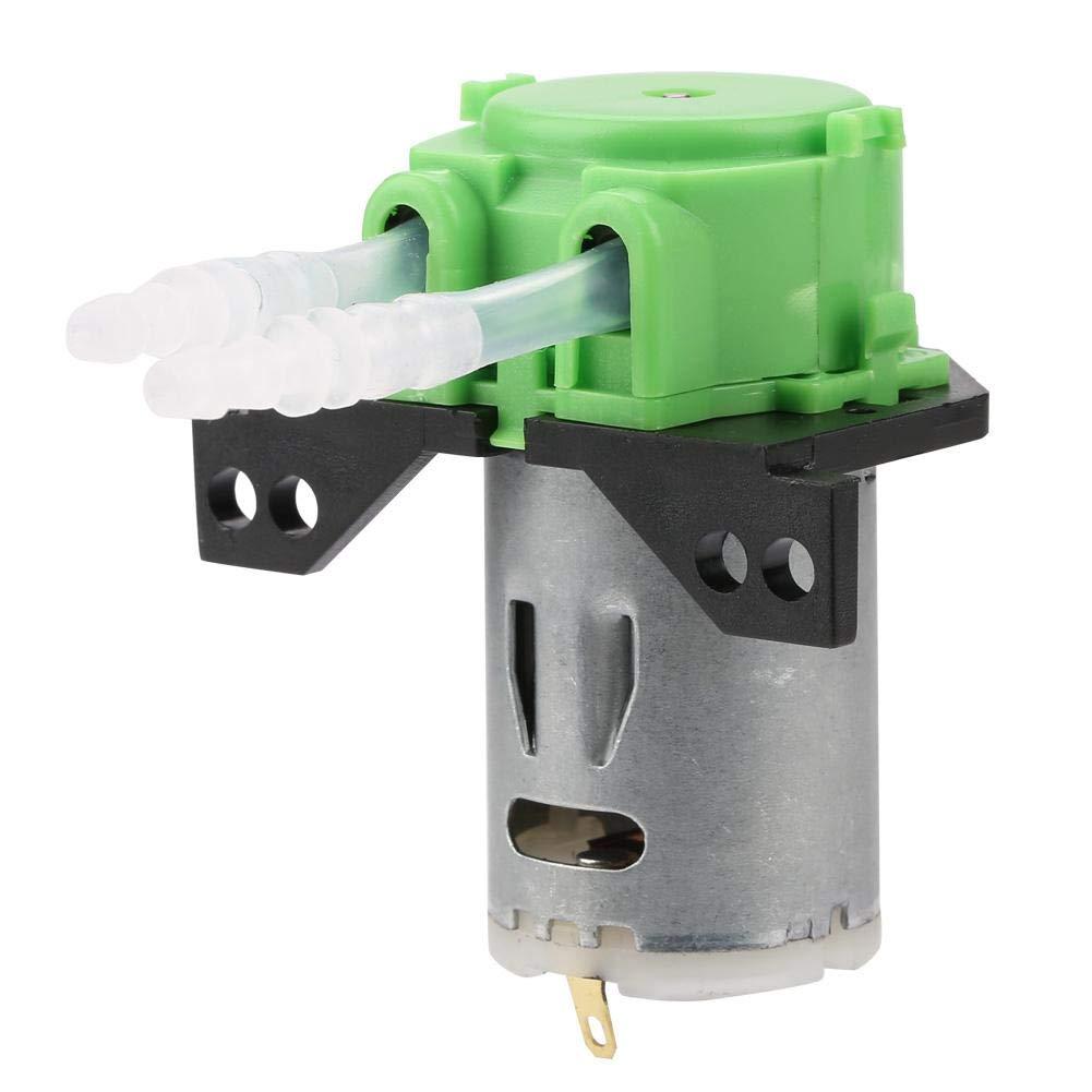 DC 12 V/24 V Bomba de dosificación peristáltica cabeza de tubo peristáltico bricolaje para análisis químico de laboratorio de acuario (verde 24 V, 3 x 5)