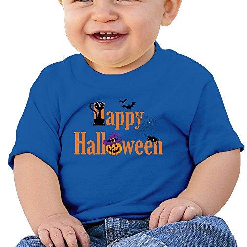 Halloween 6 - 24 Months Baby T-shirts Round Neck Shirt RoyalBlue 18 Months (Halloween Horror Nights 24 T Shirts)