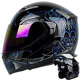 modular helmet pgr - PINSTRIPE Black Blue
